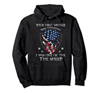 Your First Mistake Was Thinking I Was One Of The Sheep Skull Premium T-shirt Hoodie Black