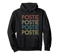 Retro Postie Mailman Letter Carrier Postal Service Shirts Hoodie Black
