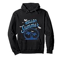Maglietta Hello Summer Shirts Hoodie Black