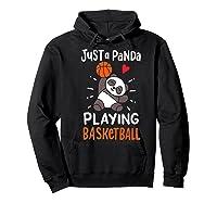 Basketball Panda Premium T-shirt Hoodie Black