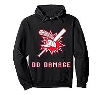 Done Damage Red Boston Championship Baseball Fan Awesome T-shirt Hoodie Black