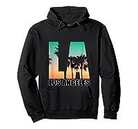 Los Angeles Design La Palm Tree Sunset Boulevard T-shirt Hoodie Black