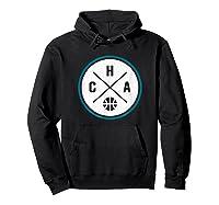 Classic Charlotte Basketball Cha Outline T-shirt Hoodie Black