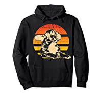 Retro French Bulldog T-shirt Gift Hoodie Black