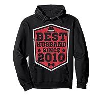 9th Wedding Anniversary Gift 9 Yrs Best Husband Since 2010 Shirts Hoodie Black