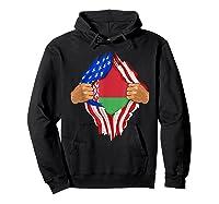 Belarusian Blood Inside Me Belarus Flag Gift Shirts Hoodie Black