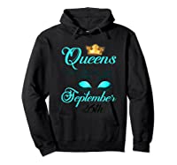 Libra Birthday Queens Are Born On September 26th Libra Girl Shirts Hoodie Black