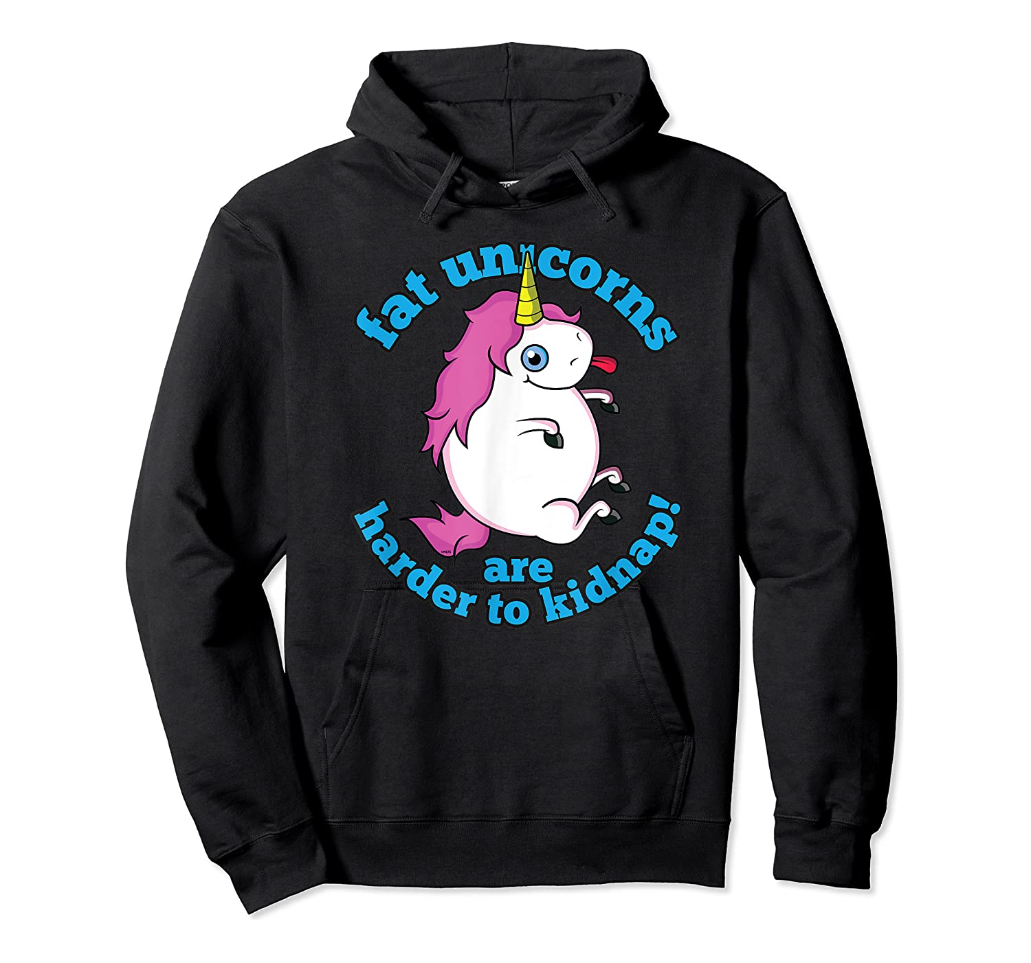Fat Unicorns Are Harder To Nap Funny Humor Gift Shirts Unisex Pullover Hoodie