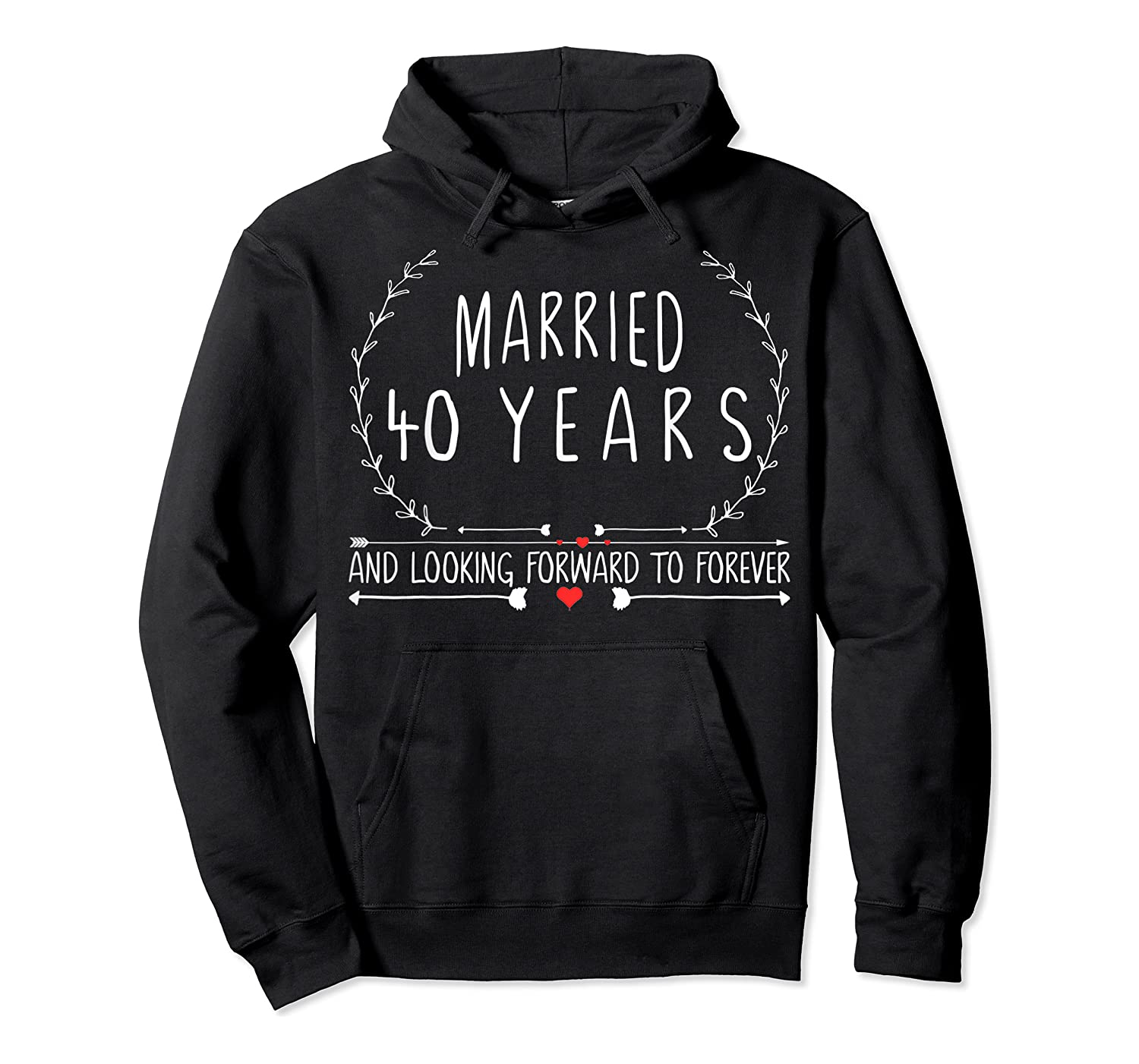Wedding Anniversary 40th Gifts For Her Him Couples Shirts Unisex Pullover Hoodie