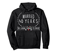 Wedding Anniversary 40th Gifts For Her Him Couples Shirts Hoodie Black