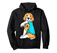 Beagle I Love Mom Apparel, Dog Mom Gifts Shirts Hoodie Black