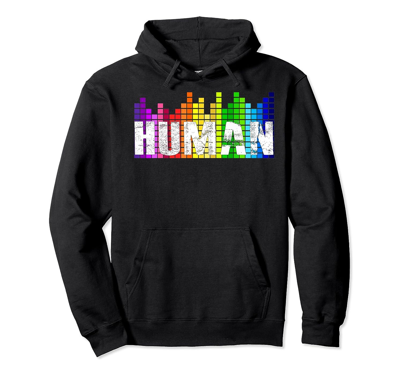 Human Flag Lgbt Gay Pride Transgender Gift Premium T-shirt Unisex Pullover Hoodie