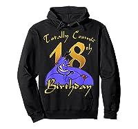 Disney Aladdin Genie Totally Cosmic 18th Birthday T-shirt Hoodie Black