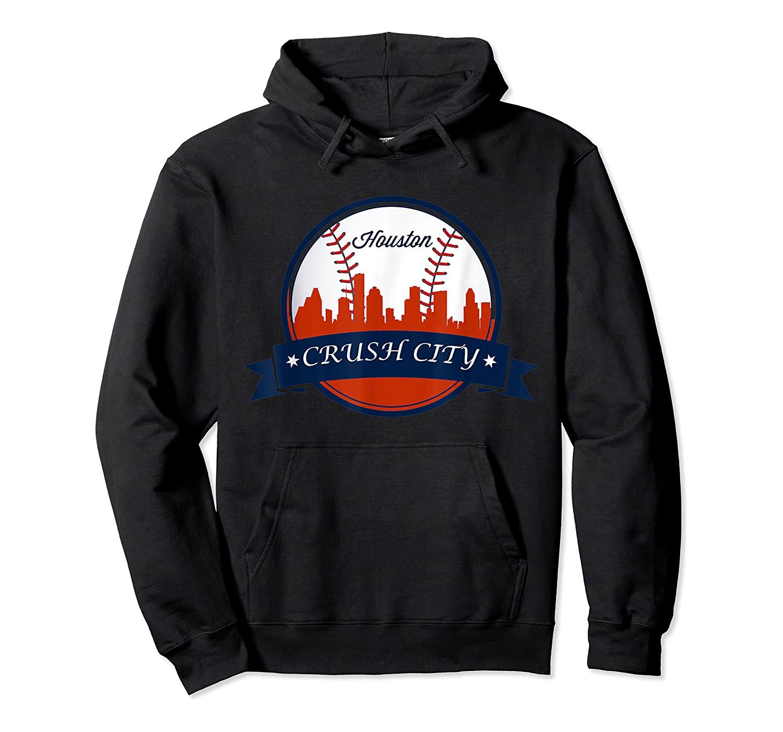 Vintage Retro Houston City Skyline Baseball Tshirt Unisex Pullover Hoodie