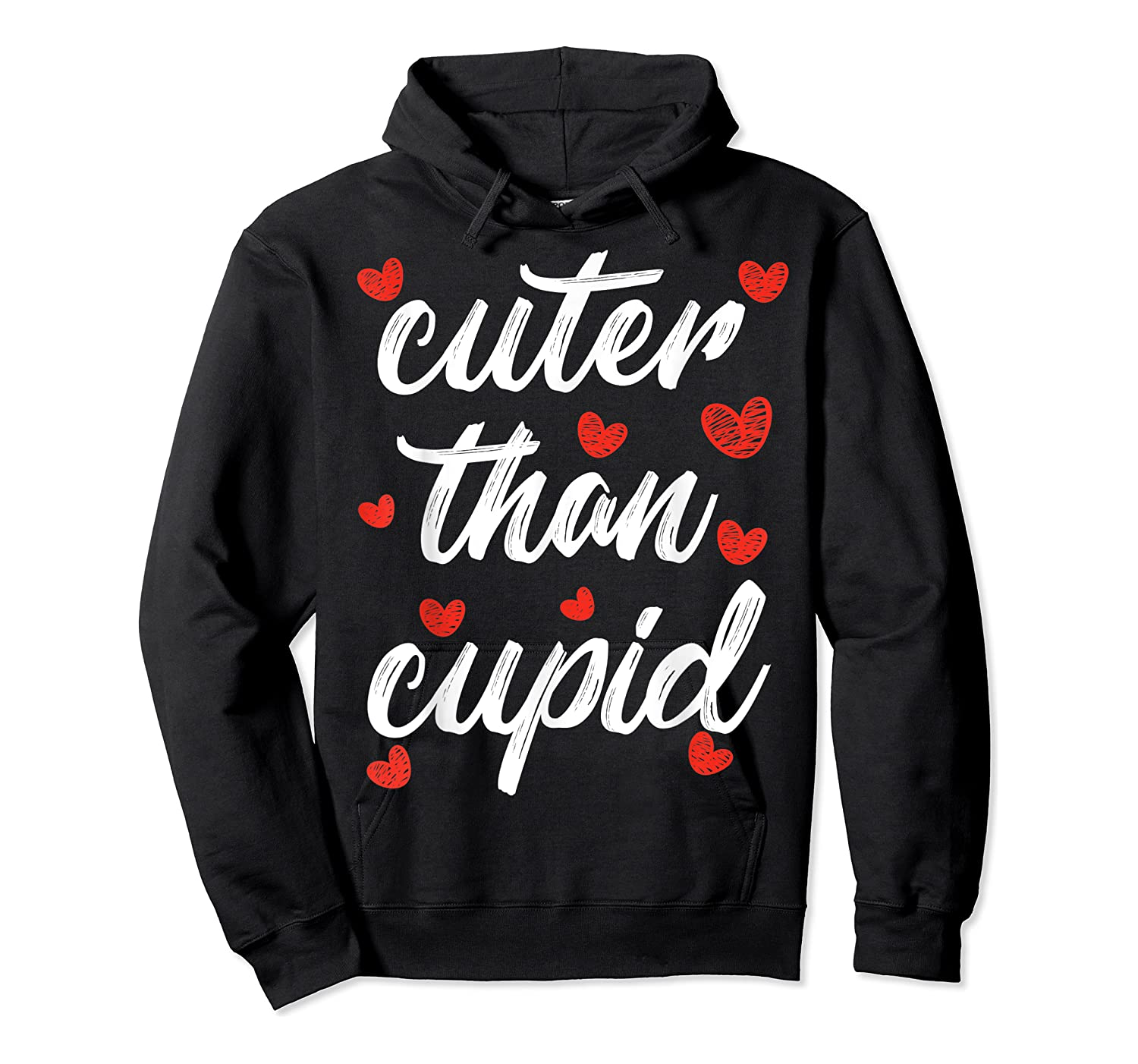 Cuter Than Cupid Girls Vday Cute Valentines Day Shirts Unisex Pullover Hoodie