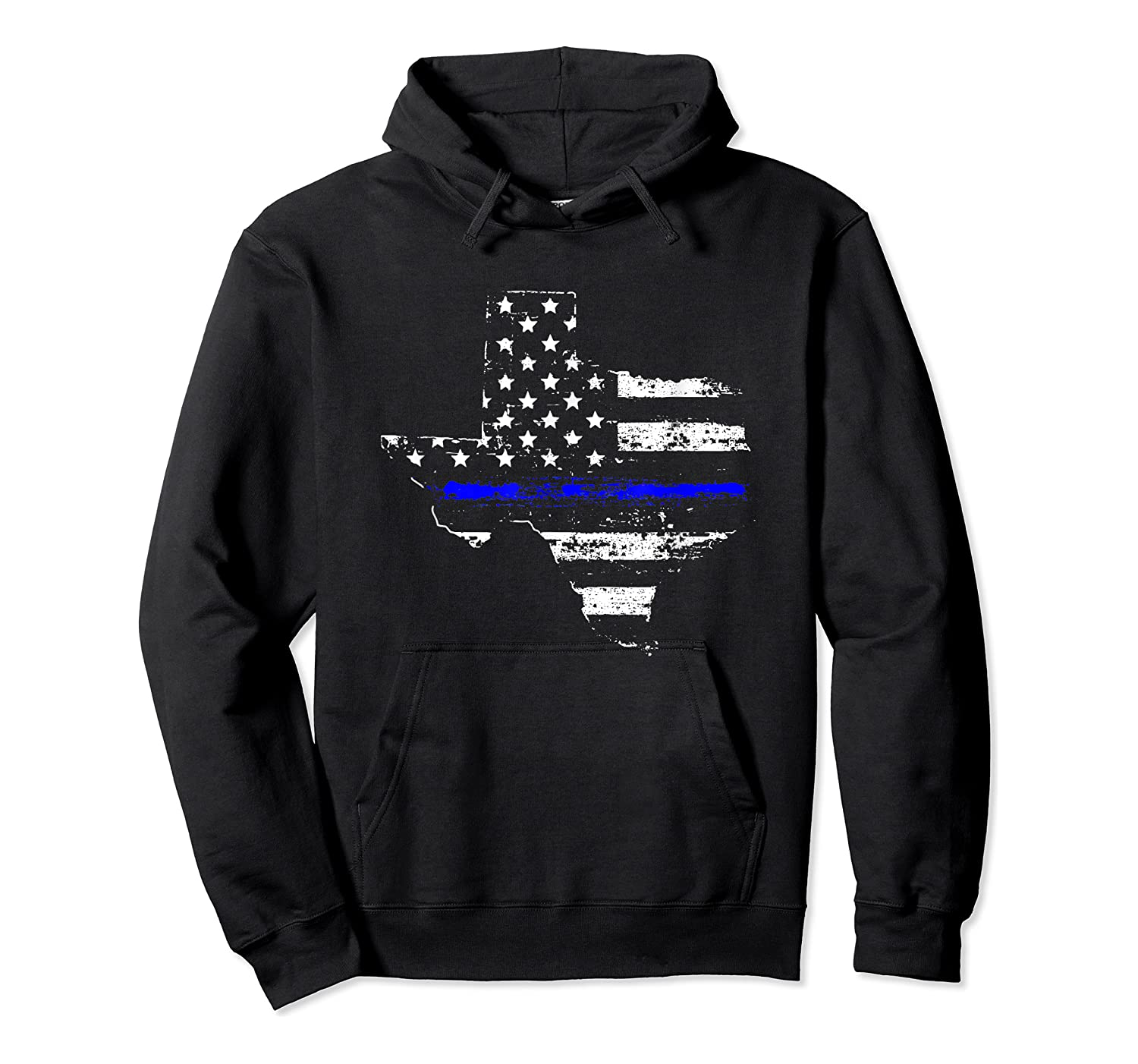 Texas Back The Blue Support Thin Blue Line Shirts Unisex Pullover Hoodie