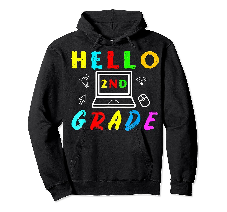 Hello 2nd Grade Tea Back To School Online Teaching T-shirt Unisex Pullover Hoodie