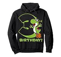 Super Mario Yoshi 3rd Birthday Action Portrait T-shirt Hoodie Black