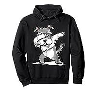 Schnauzer Cute Dabbing Funny Dab Dance Gif Shirts Hoodie Black