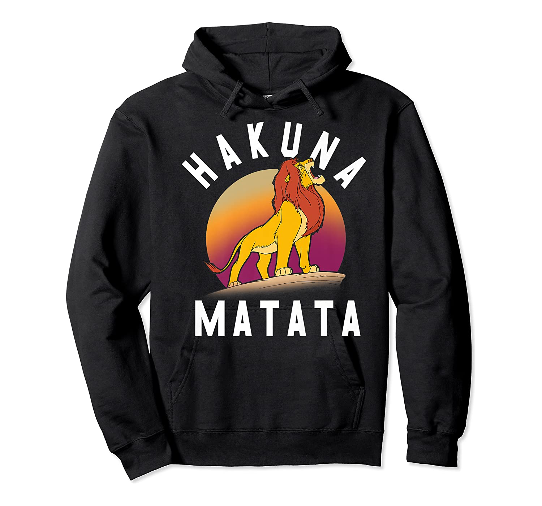 Disney The Lion King Simba Hakuna Matata Pride Rock Portrait Premium T-shirt Unisex Pullover Hoodie