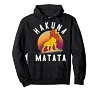 Disney The Lion King Simba Hakuna Matata Pride Rock Portrait Premium T-shirt Hoodie Black