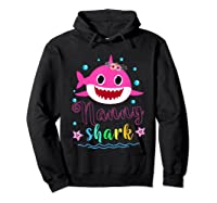 Nanny Shark Doo Doo Doo Shirt Matching Family Shark T-shirt Hoodie Black