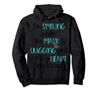 I'm Smiling Under The Mask Sped Tea Shirts Hoodie Black