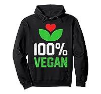 Proud 100 Vegan Vegetarian Vegetables Plant Lover Heart Shirts Hoodie Black