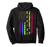 Pride Lgbt Colorful Flag Rainbow Shirts Hoodie Black