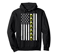 Funny Oktoberfes American Flag Beer Pretzel Shirts Hoodie Black