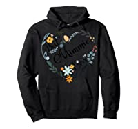 Best Mimmie Ever Heart Flower Blessed Grandma Mother's Day Shirts Hoodie Black
