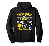 Mother's Day Mother Of 3 Shirts Hoodie Black