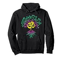Tree Of Life Shanti Patha Om Yoga Prayer Shirts Hoodie Black