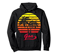 Goa 80s Summer Beach Palm Tree Sunset Shirts Hoodie Black