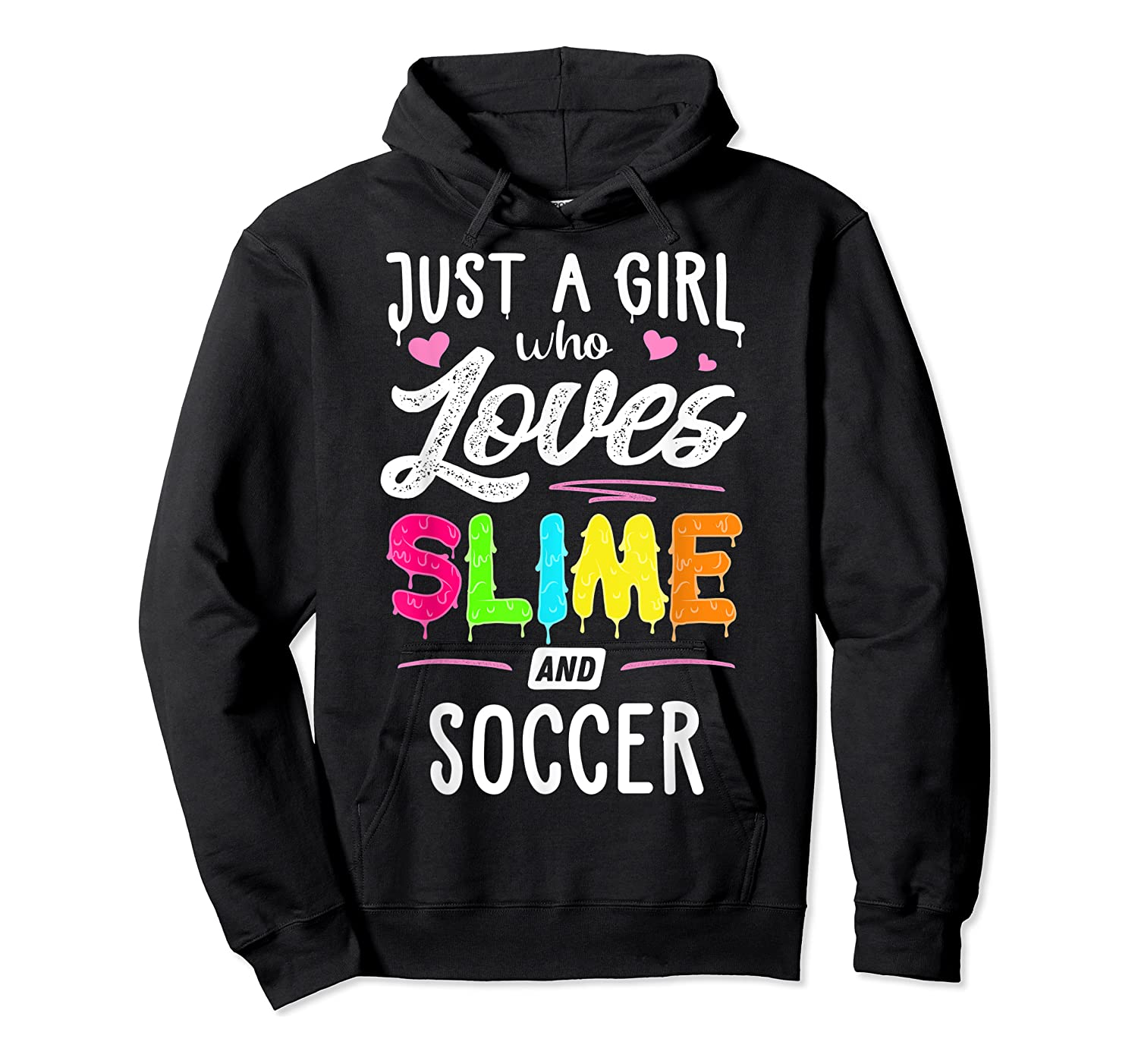 Just A Girl Who Loves E And Soccer Gift Shirts Unisex Pullover Hoodie