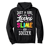 Just A Girl Who Loves E And Soccer Gift Shirts Hoodie Black
