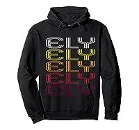 Ely, Nv Vintage Style Nevada Shirts Hoodie Black