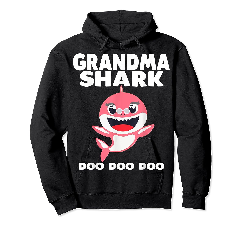 Grandma Shark Doo Doo Shirt For Matching Family Pajamas T-shirt Unisex Pullover Hoodie