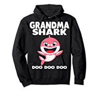 Grandma Shark Doo Doo Shirt For Matching Family Pajamas T-shirt Hoodie Black