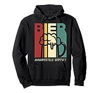 Vintage Beer Reception Beer Bier Annahmestelle Geffnet Shirts Hoodie Black