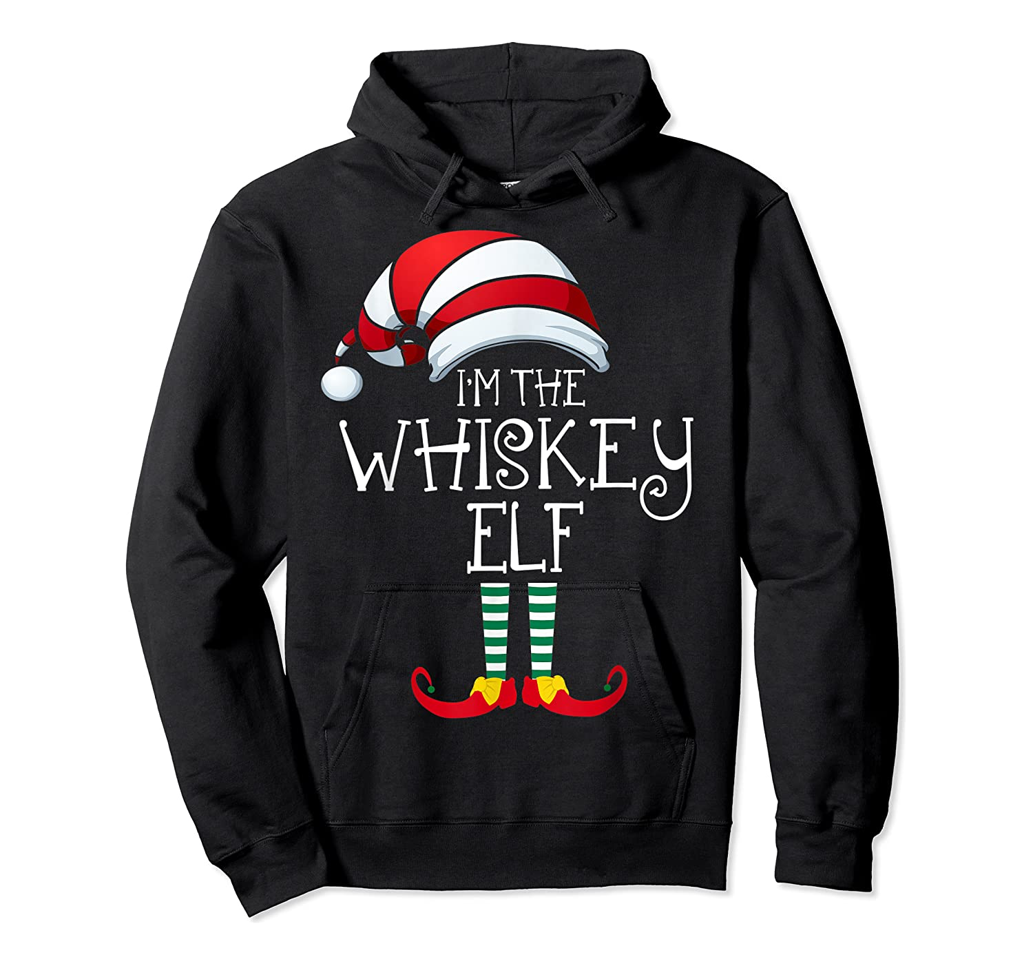 I'm The Whiskey Elf Family Matching Christmas Gift Group Shirts Unisex Pullover Hoodie