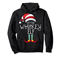 I'm The Whiskey Elf Family Matching Christmas Gift Group Shirts Hoodie Black