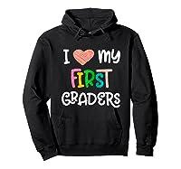 1st Grade Tea Love First Graders School Class Colorful Shirts Hoodie Black
