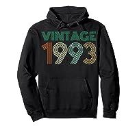 26th Birthday Gift Idea Vintage 1993 T-shirt Distressed Hoodie Black