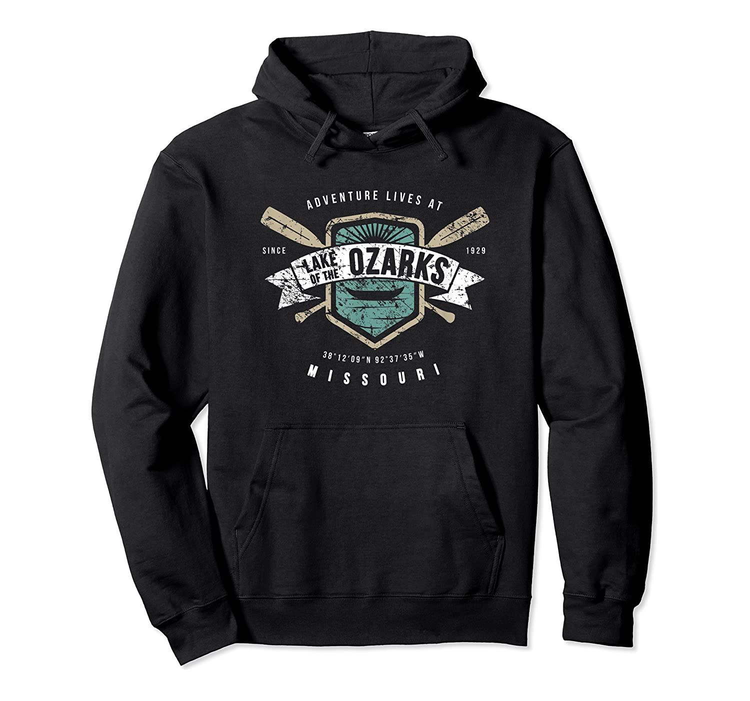 Lake Of The Ozarks Missouri Shirt, Fishing Boat Camping Gift Unisex Pullover Hoodie