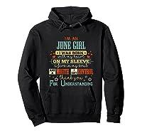 June Girl Funny Birthday Vintage Gifts T-shirt Hoodie Black