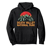 Vintage Death Valley National Park Sunset T Shirt Hoodie Black