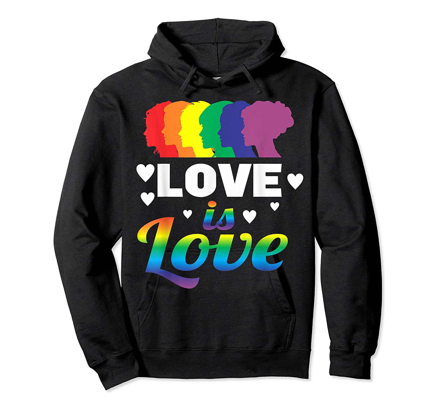 Colorful Pride Love Lgbt Suppor Gifts Love Is Love Shirts Unisex Pullover Hoodie