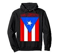 Puerto Rican San Lorenzo Puerto Rico Flag Shirt Hoodie Black