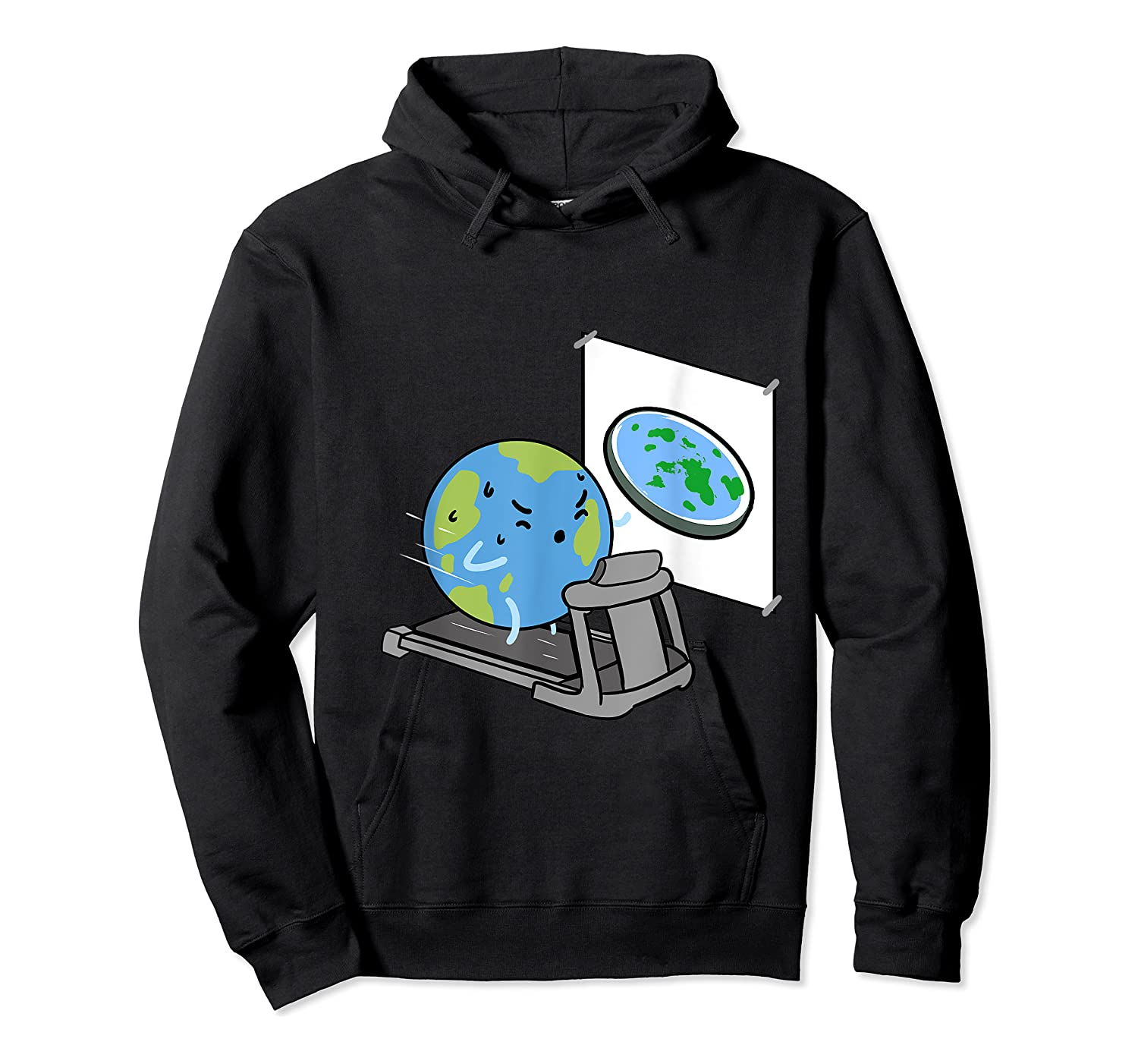 Flat Earth Workout Conspiracy Theory T-shirt Unisex Pullover Hoodie